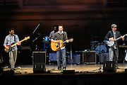Guster performs at The Music of R.E.M. at Carnegie Hall, a tribute concert to benefit musical education programs for underprivileged youth.