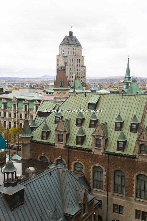 Canada. Quebec. the city view from The Chateau Frontenac , Fairmont hotel in the old city   / la ville vue depuis le chateau Frontenac, Hotel Fairmont. dans la vielle ville