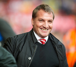 LIVERPOOL, ENGLAND - Saturday, October 20, 2012: Liverpool's manager Brendan Rodgers before the Premiership match against Reading at Anfield. (Pic by David Rawcliffe/Propaganda)