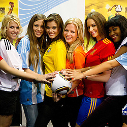 20100630: World Cup South Africa 2010, Miss World contestants of quarterfinal countries play footbal