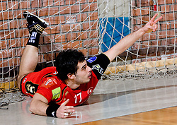 Peter Hrvatin of Slovan  during the 1/ 8 Men's European Handball Challenge Cup match between RD Slovan, Slovenia and Ystads IF, Sweden, on February 21, 2009 in Arena Kodeljevo, Ljubljana, Slovenia. Slovan defeated Ystads 37-27 and qualified to quarterfinals. (Photo by Vid Ponikvar / Sportida)
