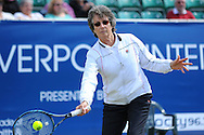 Picture by Ste Jones/Focus Images Ltd.  07706 592282.24/06/12.Former Wimbledon Ladies champion Virgina Wade during the +medicash Liverpool International 2012 tennis at Calderstones Park, Liverpool.