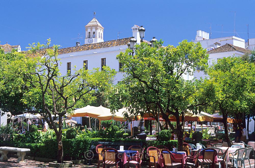 Plaza de los Naranjos in the Marbella Old Town (Casco Antiguo), Costa Del Sol, Spain