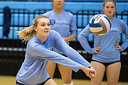Columbia against Yale during an NCAA Women's volleyball game at Levien Gymnasium in New York, New York on Saturday, Nov 11, 2017. NCAA Women's Volleyball between Yale and Columbia.
