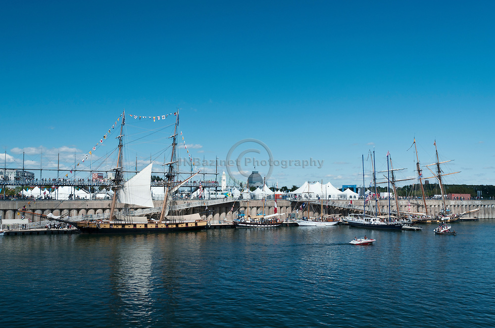 The Tall Ships docked in Montreal attract thousands of spectators.