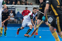 Surbiton's Jonny Gall. Surbiton v Beeston - Men's Hockey League Finals, Lee Valley Hockey & Tennis Centre, London, UK on 28 April 2018. Photo: Simon Parker