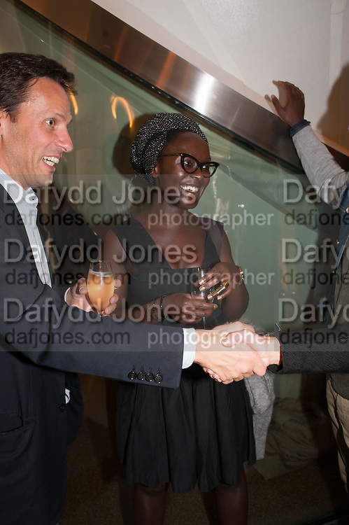 Lynette Yiadom-Boakye, VIP opening  of the new Serpentine Sackler Gallery designed by Zaha Hadid . Kensinton Gdns. London. 25 September 2013