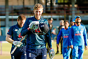 England ODI batsman Joe Root scores a century during the 3rd Royal London ODI match between England and India at Headingley Stadium, Headingley, United Kingdom on 17 July 2018. Picture by Simon Davies.
