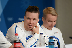 February 8, 2018 - Pyeonchang, Republic of Korea - MARTTI JYLHA of the Finnish cross country ski team at a press conference prior to the start of the 2018 Olympic Games (Credit Image: © Christopher Levy via ZUMA Wire)