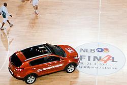 Car Kia Sportage during final match of Basketball NLB League at Final Four tournament between KK Union Olimpija (SLO) and Partizan Belgrade (SRB), on April 21, 2011 at SRC Stozice, Ljubljana, Slovenia. (Photo By Matic Klansek Velej / Sportida.com)