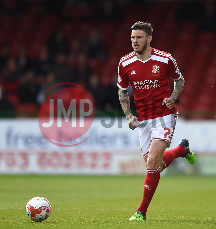 Swindon Town's Ben Gladwin - Photo mandatory by-line: Paul Knight/JMP - Mobile: 07966 386802 - 11/04/2015 - SPORT - Football - Swindon - The County Ground - Swindon Town v Peterborough United - Sky Bet League One