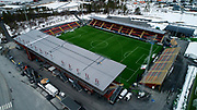 OSTERSUND, SWEDEN - APRIL 21: Aerial view ahead of the Allsvenskan match between Ostersunds FK and Orebro SK at Jamtkraft Arena on April 21, 2018 in Ostersund, Sweden. Photo by Nils Petter Nilsson/Ombrello ***BETALBILD***