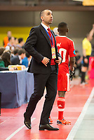 Benfica's coach Joel Rocha during UEFA Futsal Cup 2015/2016 3º/4º place match. April 22,2016. (ALTERPHOTOS/Acero)
