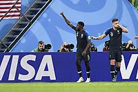 SOCCER : France vs Belgium - World Cup 2018 - 07/10/2018<br /> <br /> 05 SAMUEL UMTITI (FRA) - JOIE<br /> Norway only