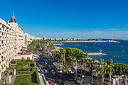 Vue sur la croisette depuis la terrase de l'hôtel Marriot de Cannes // View of La Croisette from Marriot hotel