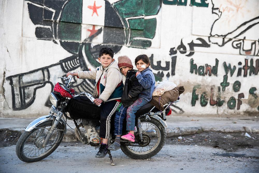 Marked by the war in Yabrud.<br /> <br /> Photo: Niclas Hammarstr&ouml;m