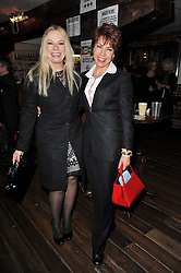 Left to right, PAMELA STEPHENSON and KATHY LETTE at the gala night party of Losing It staring Ruby Wax held at he Menier Chocolate Factory, 51-53 Southwark Street, London SE1 on 23rd February 2011.