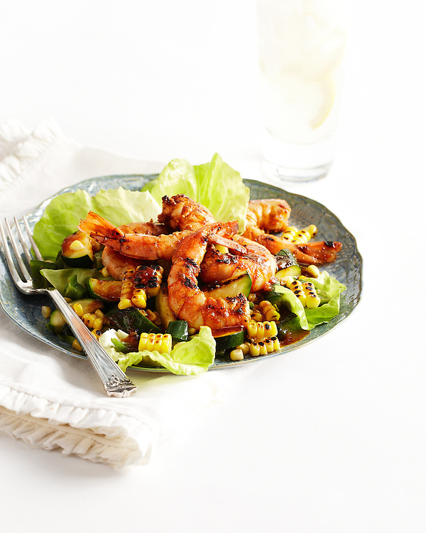 BBQ Shrimp, Corn and Zucchini Salad