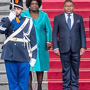 NLD/Den Haag/20170519 - Koning Willem Alexander en Koningin Maxima Ontvangen Presidentspaar Mozambique, president Filipe Nyusi, en de first lady  Isaura Nyusi