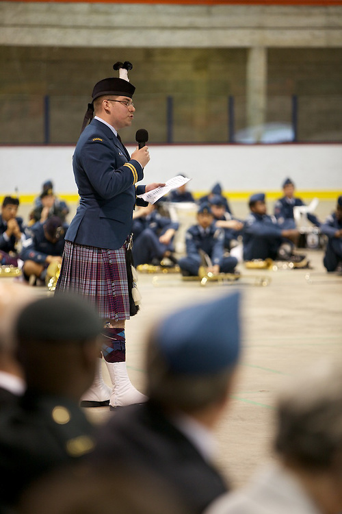 Royal Canadian Air Cadets of Squadron 803 North Shore Sabre Squadron present in the 2010 Annual Ceremonial Review. The Annual featured a number of demonstrations by the cadets for parents, officers and friends as well as the traditional annual parade review. Demonstrations included Drill Team, Highland Dance, Pipes and Drums, Band and Public Speaking demonstrations.