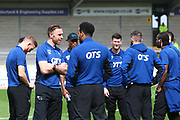 Derby players arrive at the Pirelli Stadium during the EFL Sky Bet Championship match between Burton Albion and Derby County at the Pirelli Stadium, Burton upon Trent, England on 14 April 2018. Picture by John Potts.