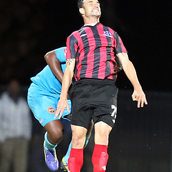DURBAN, SOUTH AFRICA - AUGUST 03: Dillion Sheppard of Maritzburg Utd during the Absa Premiership match between Maritzburg United and Polokwane City at Harry Gwala Stadium on August 03, 2013 in Durban, South Africa. (Photo by Steve Haag/Gallo Images)