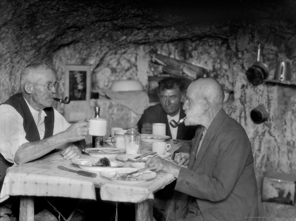 Miners Sharing a Meal, Coober Pedy Opal Fields, South Australia, 1930
