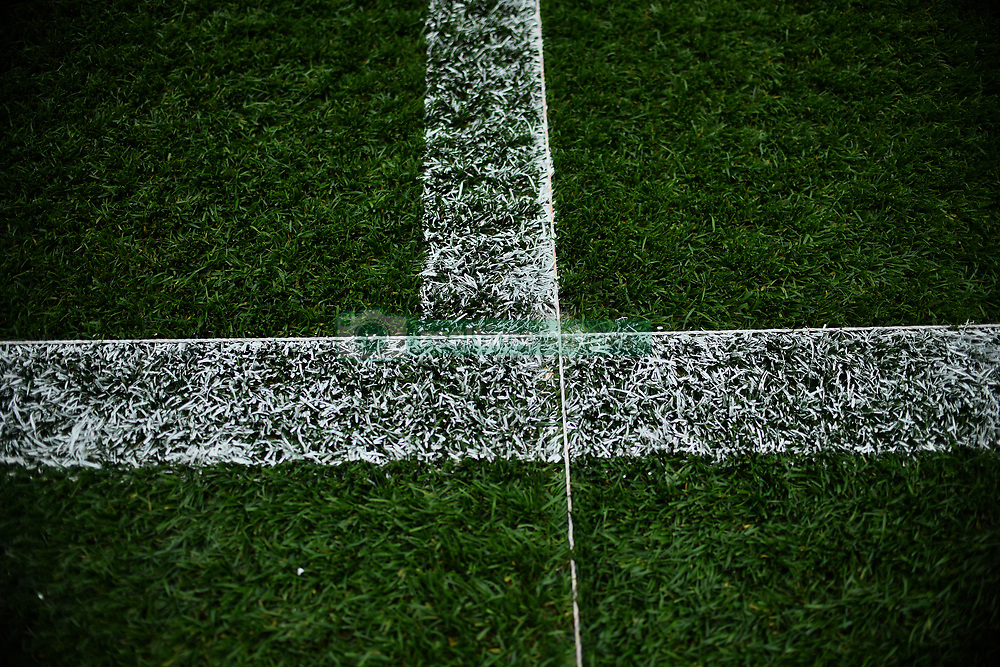 """The pitch is marked out before the pre-season match at the Macron Stadium, Bolton. PRESS ASSOCIATION Photo. Picture date: Saturday July 29, 2017. See PA story SOCCER Bolton. Photo credit should read: Anthony Devlin/PA Wire. RESTRICTIONS: EDITORIAL USE ONLY No use with unauthorised audio, video, data, fixture lists, club/league logos or """"live"""" services. Online in-match use limited to 75 images, no video emulation. No use in betting, games or single club/league/player publications."""