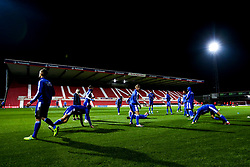 Bristol Rovers Under 18s warm up - Mandatory by-line: Robbie Stephenson/JMP - 29/10/2019 - FOOTBALL - County Ground - Swindon, England - Swindon Town v Bristol Rovers - FA Youth Cup Round One