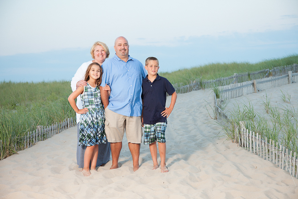 Family portrait in the dunes of Nauset Beach