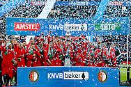 24-04-2016 VOETBAL: KNVB BEKERFINALE FEYENOORD-FC UTRECHT: ROTTERDAM <br /> <br /> Feyenoord viert de KVNB beker<br /> <br /> foto: Geert van Erven