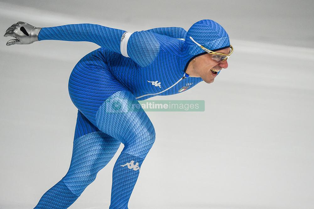 February 23, 2018 - Pyeongchang, Gangwon, South Korea - Mirko Giacomo Nenzi of Italy in 1000 meter speedskating at winter olympics, Gangneung South Korea on February 23, 2018. (Credit Image: © Ulrik Pedersen/NurPhoto via ZUMA Press)