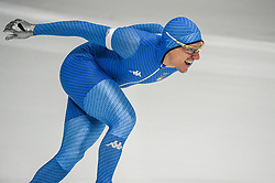 February 23, 2018 - Pyeongchang, Gangwon, South Korea - Mirko Giacomo Nenzi of  Italy in 1000 meter speedskating at winter olympics, Gangneung South Korea on February 23, 2018. (Credit Image: © Ulrik Pedersen/NurPhoto via ZUMA Press)