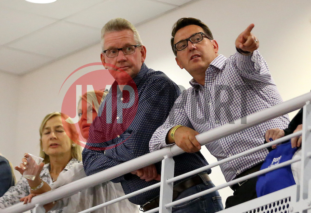 Bristol Flyers Chairman Mike Beesley with Bristol Sport Chief Executive Andrew Billingham - Mandatory by-line: Robbie Stephenson/JMP - 08/09/2016 - BASKETBALL - SGS Arena - Bristol, England - Bristol Flyers v USA Select - Preseason Friendly