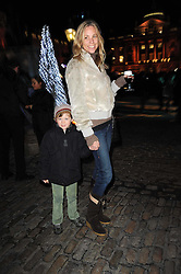 KATE DRIVER and her son PERCY at a Winter Party given by Tiffany & Co. Europe to launch the 10th season of Somerset House's Ice Skating Rink at Somerset House, The  Strand, London on 16th November 2009.