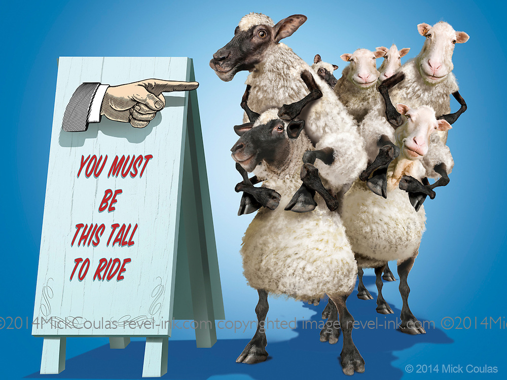 You have to be this tall to ride! 3D and Photoshop for Kentucky State Fair Promotion.