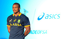 CAPE TOWN, SOUTH AFRICA - Thursday 24 April 2014, Juan de Jongh during the Asics launch of the new Springbok rugby jersey at The Lookout in the V&amp;A Waterfront<br /> Photo by Roger Sedres/ImageSA