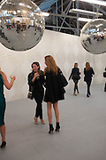DEBORAH KATTAN; ANN SOPHIE SABOURET;, Opening of Dairy with Quicksand- John M. Armleder. Dairy art Centre. ~Bloomsbury. 24 April 2013.