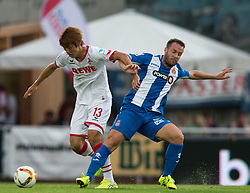 22.07.2015, Grenzland Stadion, Kufstein, AUT, Testspiel, 1. FC Köln vs RCD Espanyol Barcelona, im Bild v.l. Yuya Osako (1. FC Koeln), Franciso Montanas Clavarias (Espanyol Barcelona) // during the International Friendly Football Match between 1. FC Cologne and RCD Espanyol Barcelona at the Grenzland Stadion in Kufstein, Austria on 2015/07/22. EXPA Pictures © 2015, PhotoCredit: EXPA/ Johann Groder