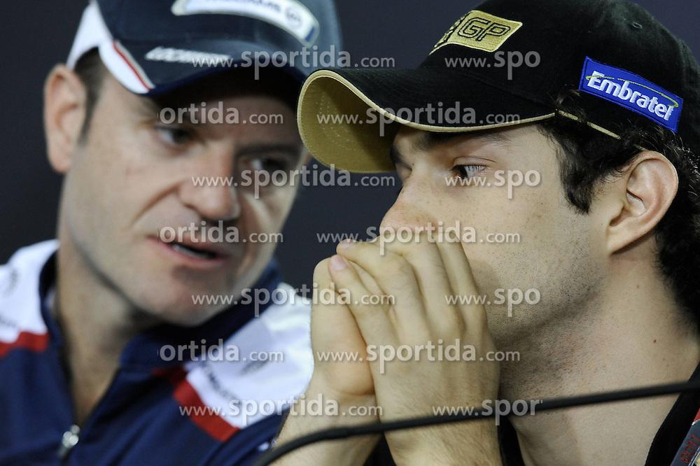 24.11.2011, Autodromo Jose Carlos Pace, Sao Paulo, BRA, F1, Grosser Preis von Brasilien, im Bild Rubens Barrichello (BRA), Williams F1 Team - Bruno Senna [BRA] Test Driver Lotus Renault GP // during the Formula One Championships 2011 Grand Prix of Brazil held at the Autodromo Jose Carlos Pace, Sao Paulo, Barzil on 2011/11/24..***** ATTENTION - OUT OF GER, CRO *****