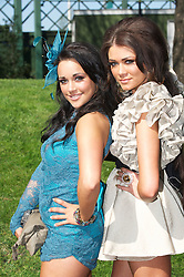 LIVERPOOL, ENGLAND, Friday, April 8, 2011: Chelsea, 19, and Britney, 17, from Crosby during Ladies' Day on Day Two of the Aintree Grand National Festival at Aintree Racecourse. (Photo by David Rawcliffe/Propaganda)