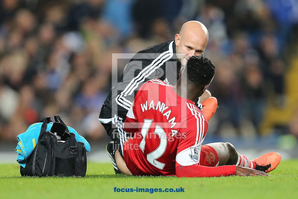 Picture by Richard Calver/Focus Images Ltd +447792 981244<br /> 01/12/2013<br /> Victor Wanyama of Southampton receives treatment for a injury during the Barclays Premier League match against Chelsea at Stamford Bridge, London.