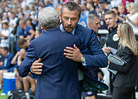 Football - 2018 / 2019 Premier League - Fulham vs. Crystal Palace<br /> <br /> Fulham Manager Slavisa Jokanovic greets Roy Hodgson, Manager of Crystal Palace, ahead of the kick off at Craven Cottage<br /> <br /> COLORSPORT/DANIEL BEARHAM