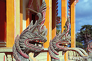 dragons guarding entrance of Wat Chalong, a Buddhist temple in Phuket, Thailand
