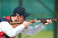 London, England, 21-04-12. Wilfred BLANCHARD III (USA) competes in the ISSF World Cup Skeet competition, Royal Artillery Barracks, London. Part of the London Prepares Olympic preparations.