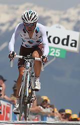 25/05/2010 Etape 16 - 93° GIRO D'ITALIA - Tour d'Italie - Contre la montre individuelle 12,9 km. San Vigilio Di Marebbe - Plan De Corones, Italy. .© Photo Pierre Teyssot / Sportida.com.TURPIN Ludovic FRA ALM during the time trial, 16th stage on 25/05/2010, 2010 in Plan de Corones, Kron Platz, Italy.