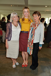 Left to right, LADY ANNE LAMBTON, RUA GEDMINTAS and CELIA IMRIE at a lunch in aid of the charity African Solutions to African Problems (ASAP) held at the Louise T Blouin Foundation, 3 Olaf Street, London W11 on 21st May 2014.
