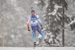 March 9, 2019 - –Stersund, Sweden - 190309 Serafin Wiestner of Switzerland competes in the Men's 10 KM sprint during the IBU World Championships Biathlon on March 9, 2019 in Östersund..Photo: Petter Arvidson / BILDBYRÃ…N / kod PA / 92252 (Credit Image: © Petter Arvidson/Bildbyran via ZUMA Press)