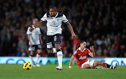 Wilson Palacios during the Barclays Premier League match between Manchester United and Tottenham Hotspur at Old Trafford on October 30, 2010 in Manchester, England.