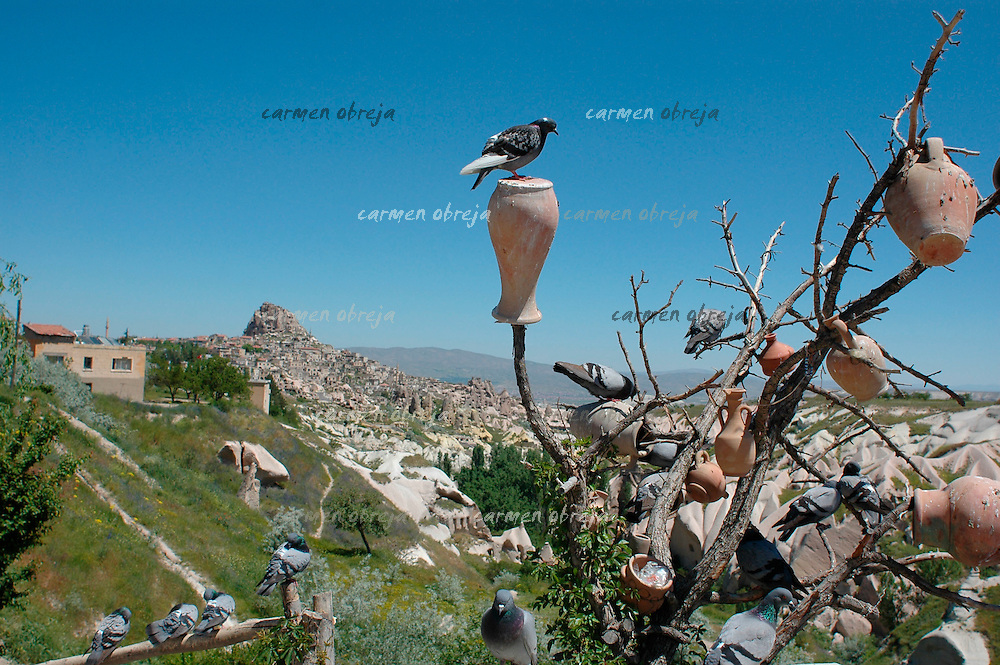 goods for tourists are exposed in Pigeon Valley, Cappadocia